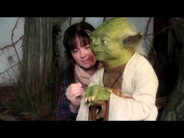Viaszba öntött Star Wars karakterek a Tussaud panoptikumban