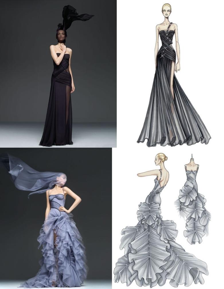 девушка, модель, эскиз, платье, мода - картинка 11632 на Favim.ru.