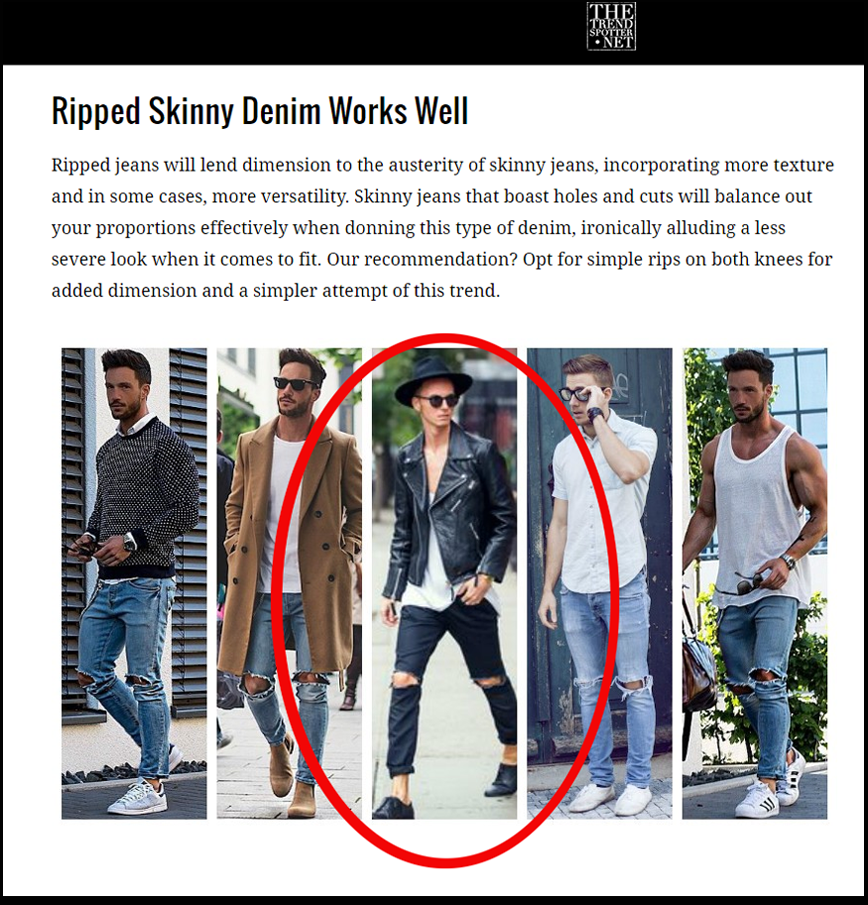 "Featured in the ""How to Wear Men's Skinny Jeans"" article"