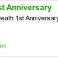 Mother s death 1st anniversary
