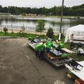 Meg érkeztünk, hajó előkészítve;) #kaliningrad #bme #bmesolarboatteam #rosana #race