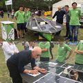 Fa Nándorral is találkoztunk a Zoltek Családi napján :) Köszönjük a biztató szavakat ;) Hajrá BME Solar Boat Team! #spiritofhungary #bme #bmesolarboatteam #zoltek #fanandor