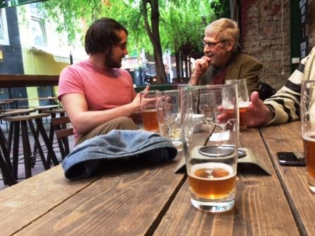 Sörfőző és szakértő Ádám (Hübris) és Roger Protz