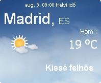 spanyolország napi időjárás előrejelzés 2010