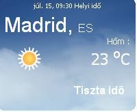 spanyolország időjárása