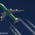 Contrail spotting - EVA Air Boeing 747