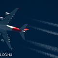 Contrail spotting - Qantas A380