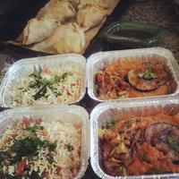 Sárgaborsó és padlizsán curry