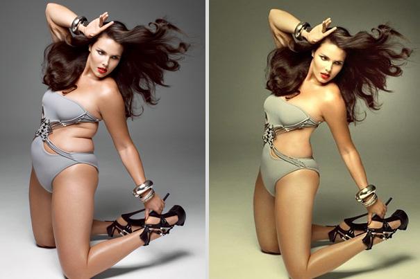 Candice Huffine a világhírű super size modell, akiről még 10 kilót lefaragnak minden egyes fotózás után, mert kövér… WTF?!<br />