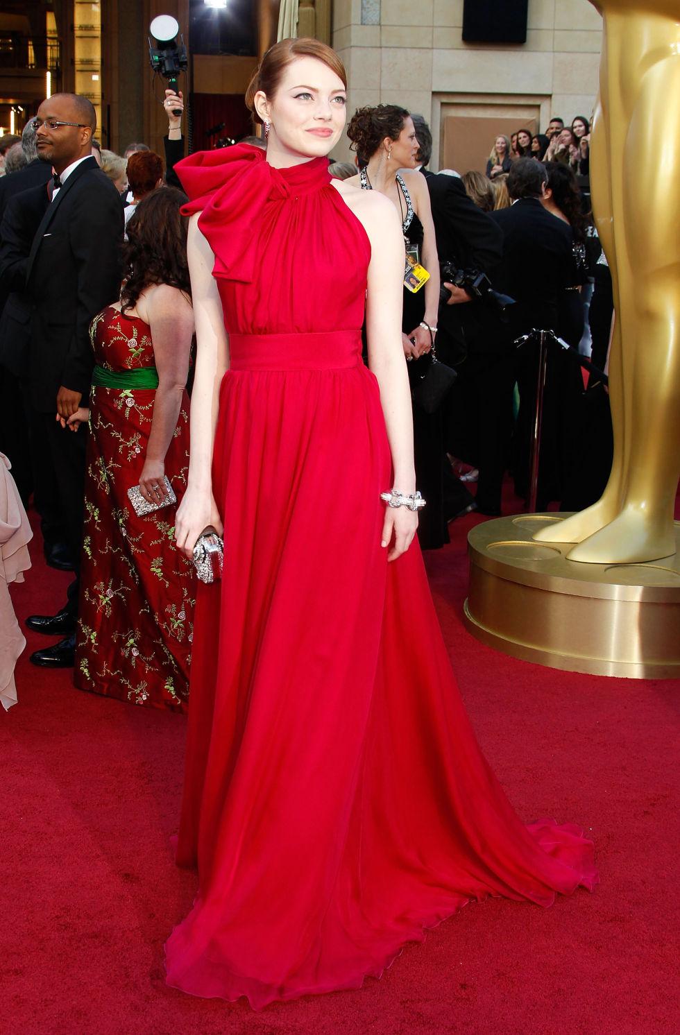 Emma Stone, 2012<br />Giambattista Valli Haute Couture