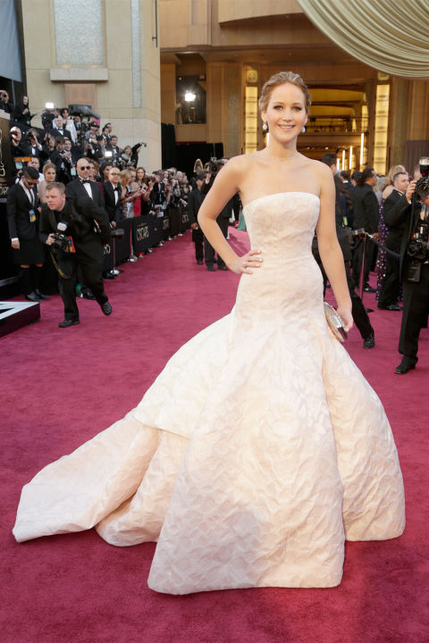 Jennifer Lawrence, 2013<br />Dior Haute Couture