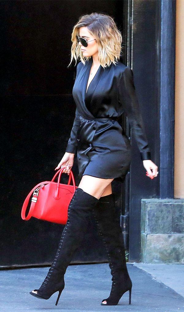 Khloé Kardashian combcsizmával bolondította meg kimonóját