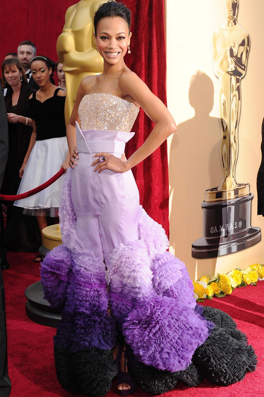 Zoe Saldana, 2010<br />Givenchy Couture