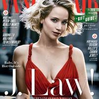 Jennifer Lawrence ünnepi címlaplányként