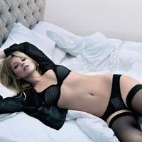 Kate Moss fehérneműben