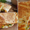 Poblano chilis quesadilla