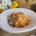 Sütőtökös rizottó pirított gombával