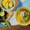 Zöldcitromos csirkeleves a Yucatan-félszigetről