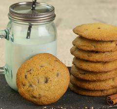 Nutellás csokicseppes cookie