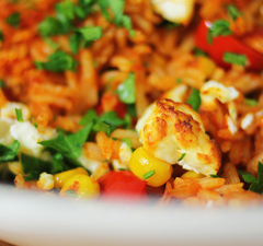 Egy nagyon színes Dél-amerikai sült rizs