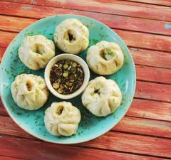 Kínai  pirított gőzgombóc ötfűszeres-marhahúsos töltelékkel