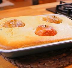 Vaníliás darafelfújt sült almával