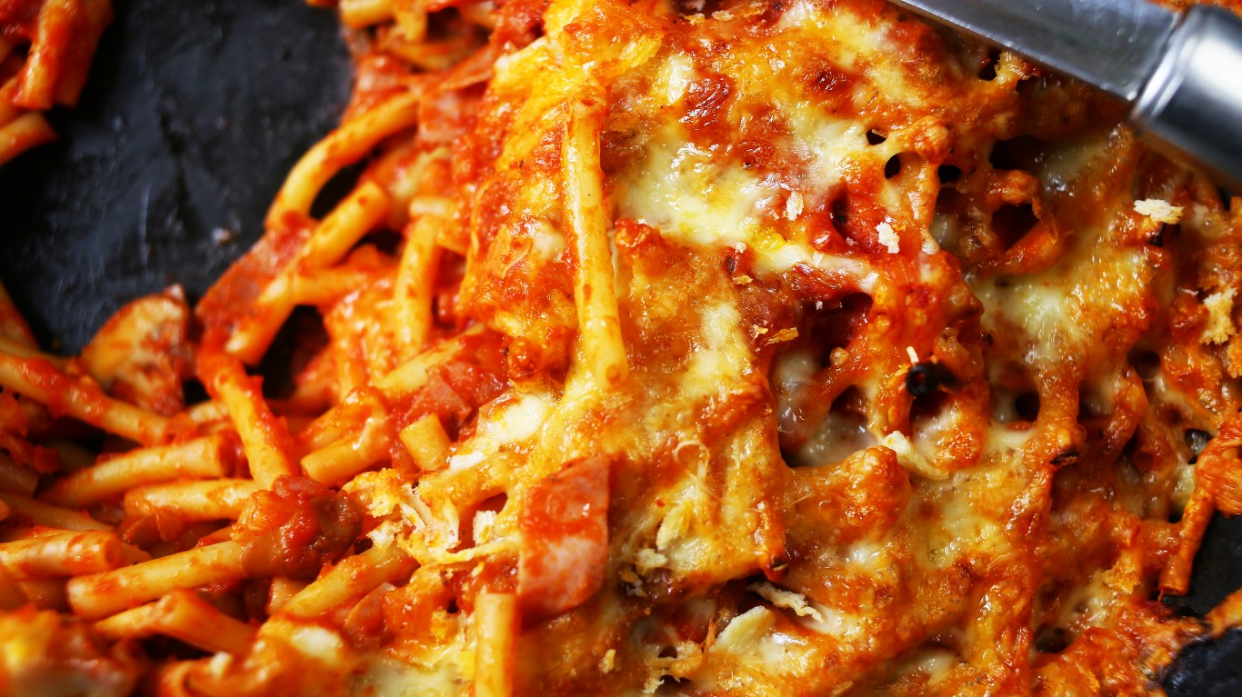 Milánói makaróni rengeteg sajttal összesütve