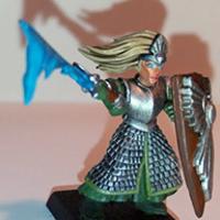 Konvertált high elf hős, festve