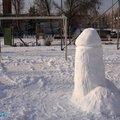 A nap híre: Másfél méteres hófasz a szombathelyi játszótéren!