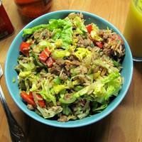 Cajun Dirty Rice salátával, avagy csirkemáj rizzsel, zöldségekkel
