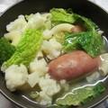 Toszkán téli zöldségleves kolbásszal