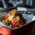 Pofonegyszerű édes-savanyú mártás házilag rizzsel és ropogós csirkével