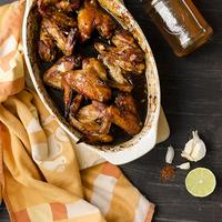 Ragacsos, ázsiai csirkeszárnyak