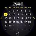 Pace Calendar Widget - HU