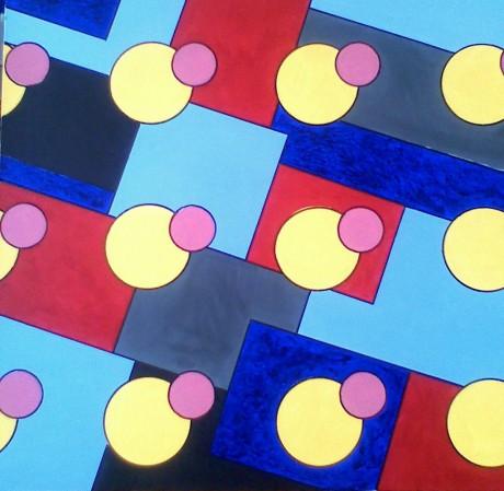 100x100 cm, akril, vászon, 2010