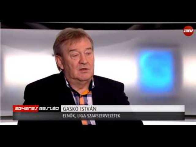 Gaskó István az ATV Egyenes Beszéd c. műsorában