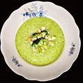 Kecskesajtos brokkolikrémleves