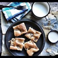 Gyömbéres-körtés piskóta vaníliás sajtkrémmel.