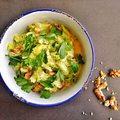 Tejszínes-currys kelkáposztafőzelék