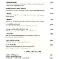 A Szatyor Bár és Galéria új étlapja