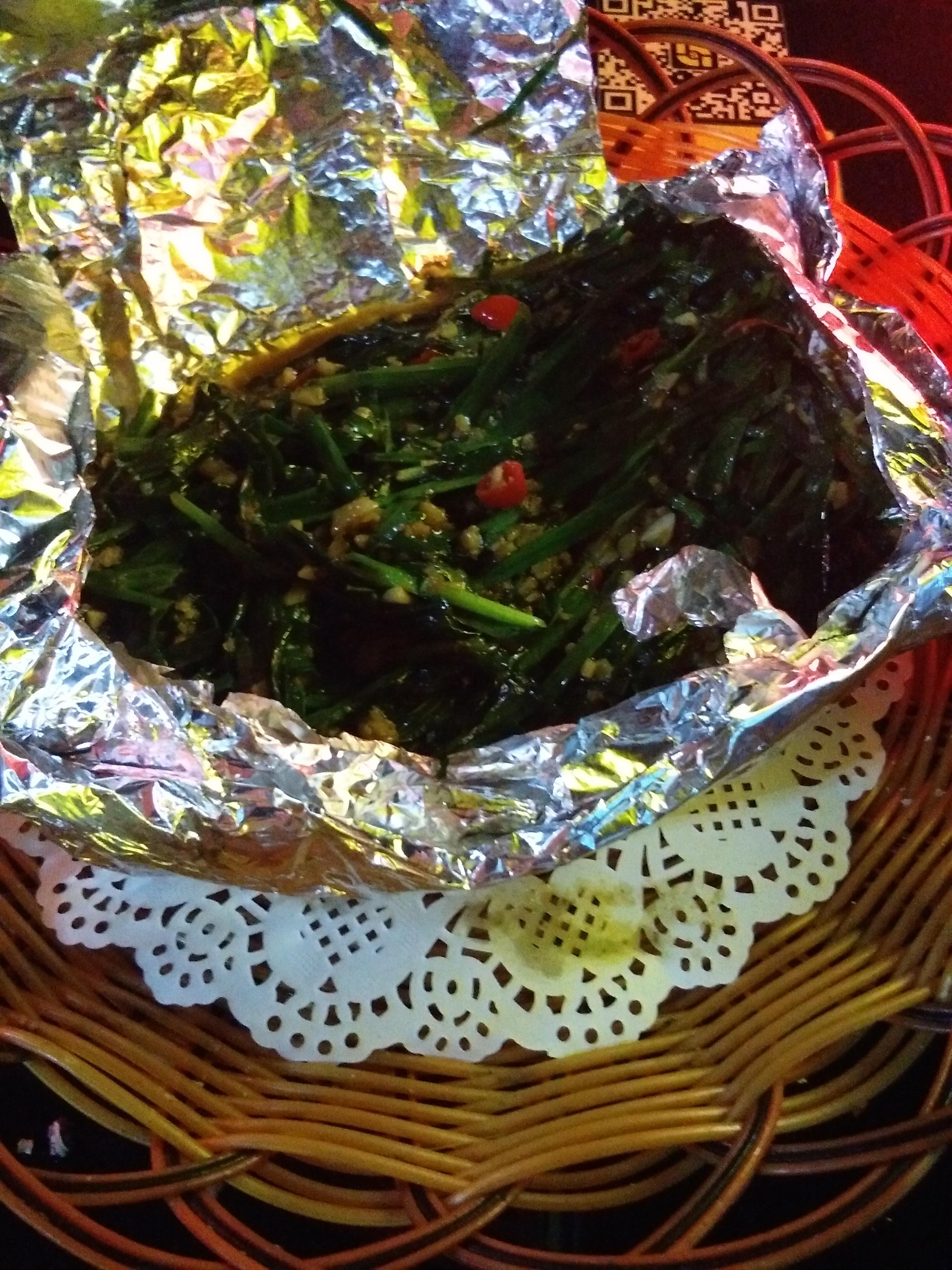Zöldségek, erősen fűszeres, grillezett verzióban.