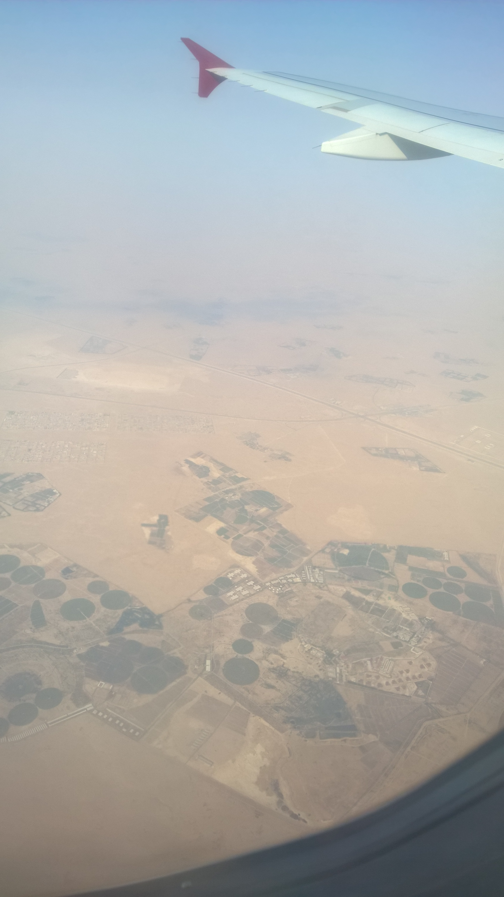 Sivatagi mezőgazdaság. Ala'erban jobban nyomják, igaz, ott van folyó.