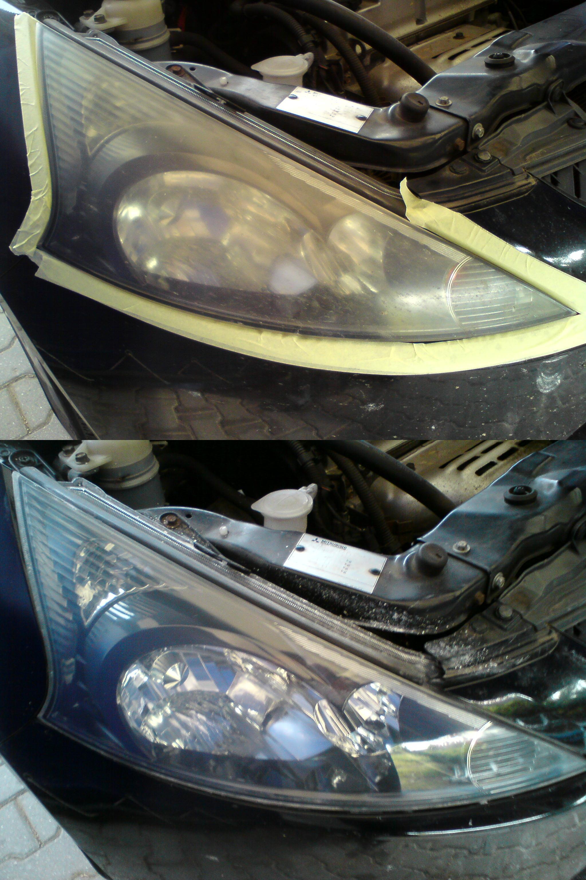 Ford Fényszóró polírozás