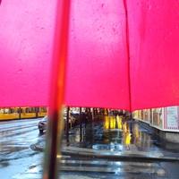 Miért sétáltam rikító színű esernyővel a főváros közepén?