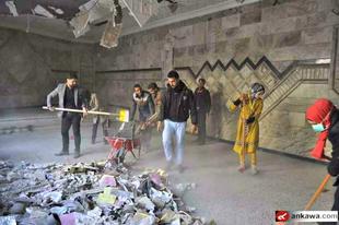 Muszlim önkéntesek állítják helyre a katolikus templomot