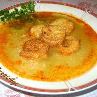 Rongyos leves, bundás korongokkal