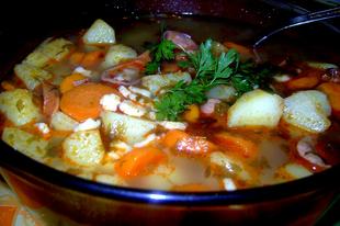 Petrezselymes krumplileves szafaládéval