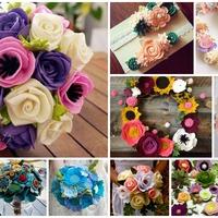 Virágok filcanyagból
