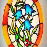 Üvegtárgyak festése