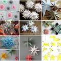 Papírcsillagok karácsonyra